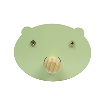 Perchero de Pared Pig - Perchero Infantil Cerdito (Verde ...