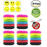 Sumpol Mosquito Repellent Bracelets 30 Pcs, Natural Waterproof Wristbands, Pest Bug Control Bands Kids Adults Outdoor Camping Fishing Traveling