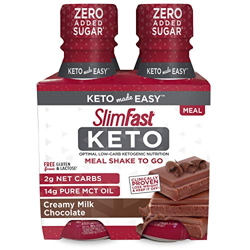 SlimFast Keto Chocolate Shake - Ready to Drink Meal Replacement - 11 fl. oz Bottle - 4 Count