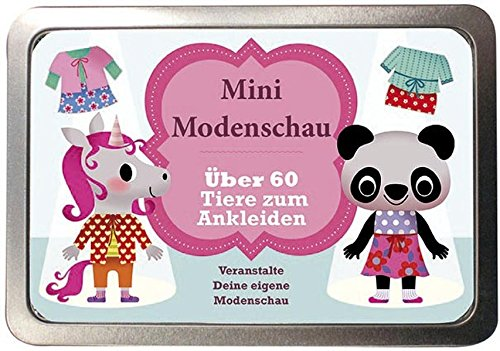 Boxset Mini Modenschau - Über 60 Tiere zum Ankleiden: Veranstalte Deine eigene Modenschau