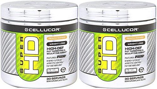 Cellucor Super HD Powder, Peach Mango, 2 packs of 30 Servings