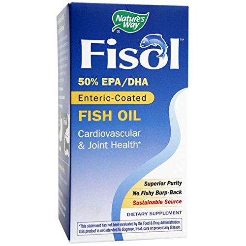 Nature's Way Fisol Enteric-Coated Fish Oil - 180 Softgels