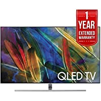 Samsung Flat 55 4K Ultra HD Smart QLED TV (QN55Q7FAM) with 1 Year Extended Warranty