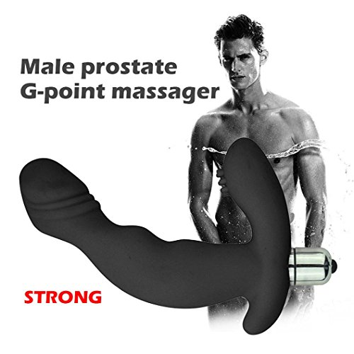 Prostate Massage Vibola Silicone Waterproof G Point Stimulate Prostate Massager Anal Vibrator Sex Toys Valentine's Day present (Black)