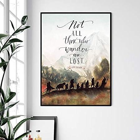 Cuadro nórdico moderno para pared, lienzo de pintura para decoración del hogar, Señor de los Anillos, póster de película clásica, famosa decoración de la casa sin marco., A1, 20 x 30 cm