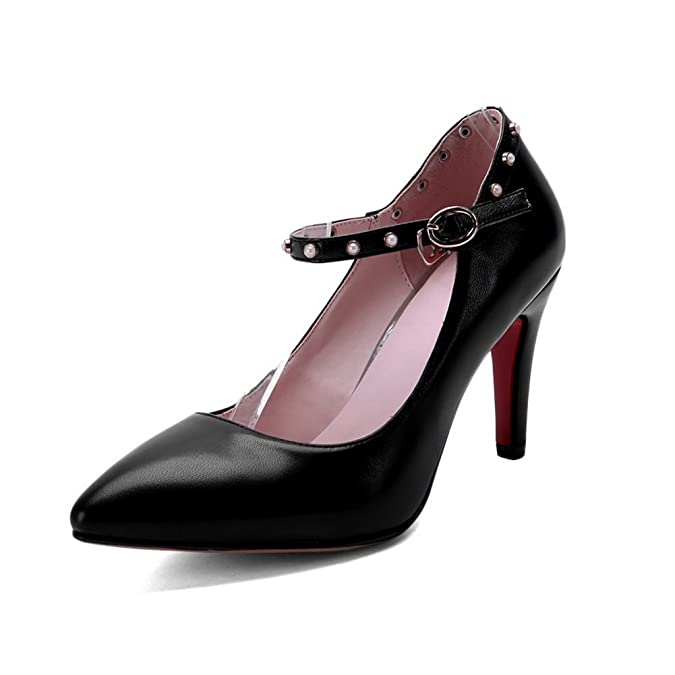 balamasa Damen-High-Heels Massiv Mikrofaser pumps-shoes