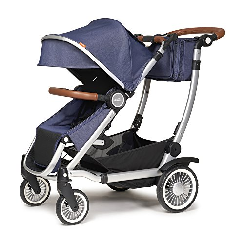 Austlen Entourage Baby & Toddler Stroller: Travel System Double Strollers for Boys & Girls - Navy