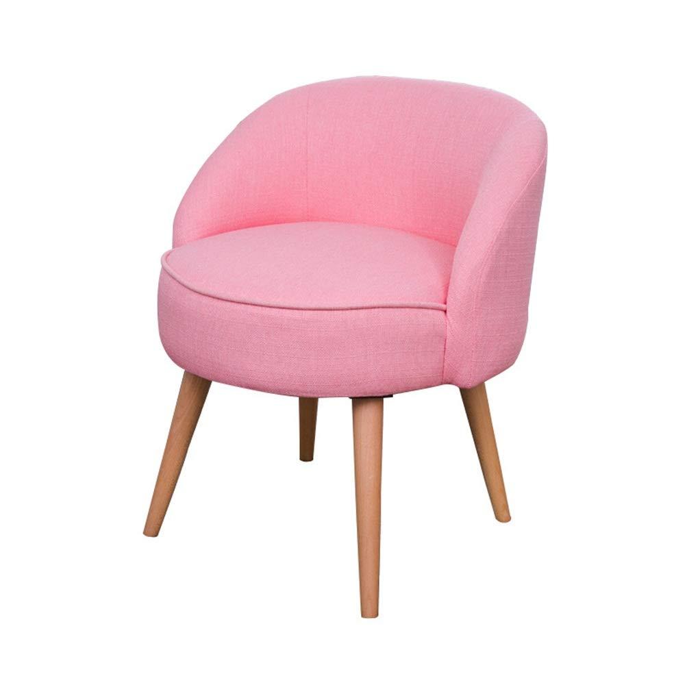 Yhjklm-HOME Makeup Vanity Hocker Startseite Moderner Akzent-Stuhl mit Massivholzbeinen und Polstersitzkissen for Wohnzimmer Schlafzimmer Dorm Wohnung (Farbe : Rosa, Größe : 54x70cm)