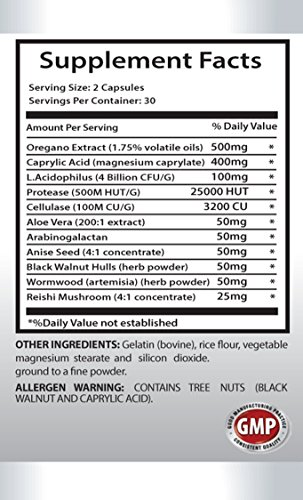 Natural detox - CANDIDA AWAY Extra Strength - Candida products - 6 Bottles 360 Capsules by PL NUTRITION (Image #1)