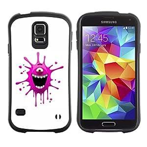Suave TPU Caso Carcasa de Caucho Funda para Samsung Galaxy S5 SM-G900 / Funny Pink Monster / STRONG