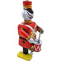 STOBOK Vintage Wind Up Toys Royal Drummer Figurine Nostalgic Soldier Nutcracker Robot Clockwork Toy for Office Table…