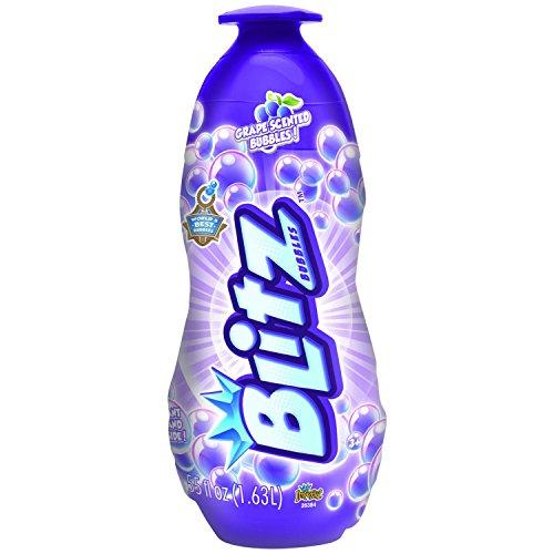 Bubble Blitz 55 fl oz Bottle of Grape Scented Bubbles, Bonus Giant Wand Inside Bottle by Imperial