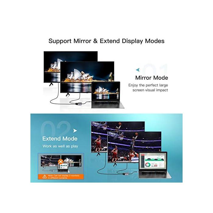 51VHfTm1AiL Haz clic aquí para comprobar si este producto es compatible con tu modelo ☞【Concentrador USB C 4 en 1】: El adaptador USB VGA tiene 4 puertos eficientes: 4K HDMI, 1080P VGA, USB 3.0 y puerto Tipo C; Admite el modo de espejos y expansión, adecuado para conectar una pantalla y un proyector a computadoras portátiles, PC, teléfonos inteligentes, etc. ☞【Dos modos de pantalla】:HDMI y VGA podrían trabajar al mismo tiempo, conectaron el HDTV y el Monitor / proyector al mismo tiempo. No retrasarás el trabajo cuando juegues o mires televisión. Y la resolución máxima de los dos puertos es 1080P / 60Hz.