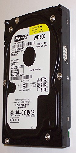 Ide Hard Cache Drive (Western Digital 80GB Hard Drive HDD 3.5 in 7200RPM IDE PATA WD800 WD800BB-00JHC0)