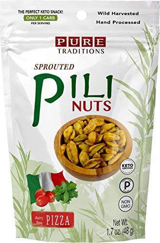 Sprouted Pili Nuts, Pizza, Certified Paleo & Keto (1.7 Oz)