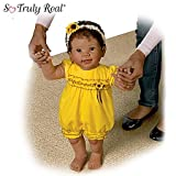 Kiara's First Steps: Walks With Your Help! - So Truly Real® Lifelike, Interactive & Realistic African-American Baby Doll 26-inches by The Ashton-Drake Galleries