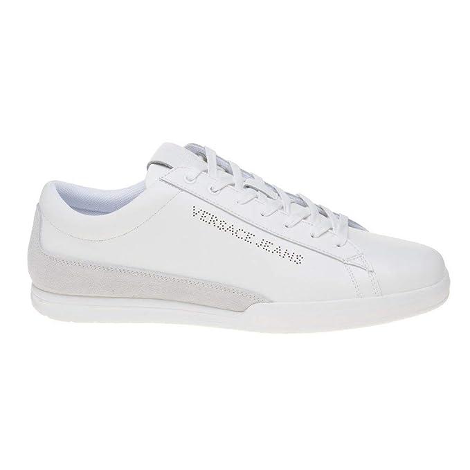 a6c2e3dfb75e6 Amazon.com: Versace Jeans Cupsole Lace Mens Sneakers White: Clothing