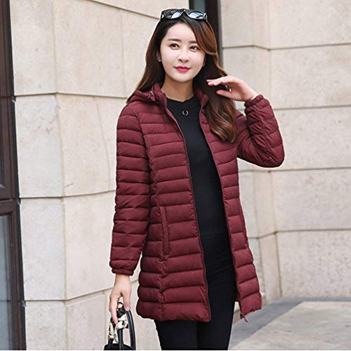 Invernali Plus Zrot Piumino Glamorous Outerwear Leggero Lunga Slim Fashion Incappucciato Donna Colore Fit Cappotti Manica Giaccone Piumini Caldo Puro Semplice Prodotto Eleganti R1wW1x5rq