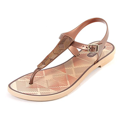 Grendha Women's Romantic Plastic Toe Post Buckle Sandal Bronze Bronze ojMkDgLe