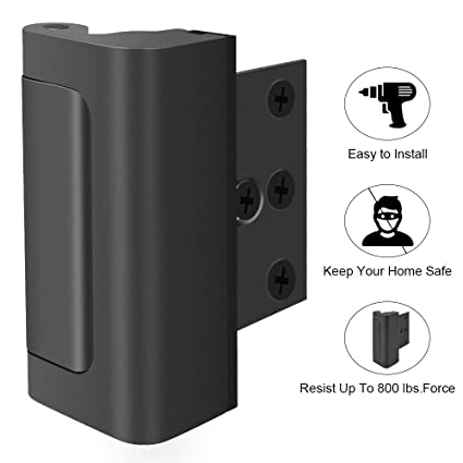 Gold-1 Pack Door Reinforcement Lock,3Defender Security Door Lock for Toddler,Home Child Proof Door Locks Withstand 800 lbs for Inward Swinging Door,Easy to Install.