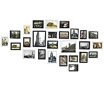 Sungle Conjunto de marcos de fotos de madera para 26 fotos