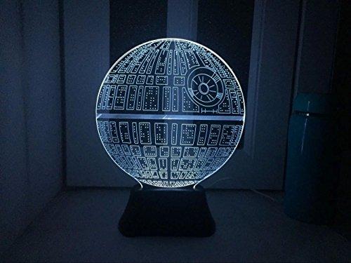 USUN Amazing 3D Erde Illusion leuchten LED Licht Lampe Art Skulptur Beleuchtet Schreibtisch Nachtlicht Lampe