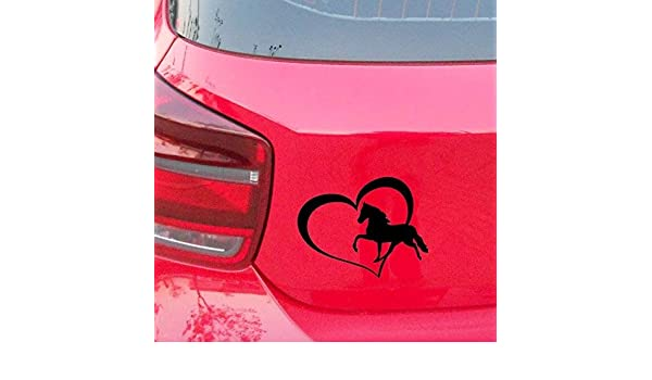 5.5 inches Mac Love And Horses Pony Heart Vinyl Decal Car Sticker Truck Window Wall Bumper Styling Accessories laptop Truck