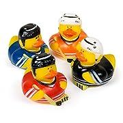 Fun Express Hockey Rubber Duck Party Favor Set (1 Dozen)