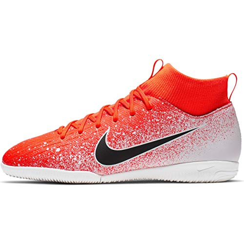 Nike JR Mercurial SuperflyX 6 Academy GS IC Soccer Shoes (Hyper Crimson) (5Y) ()