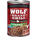 WOLF BRAND Turkey Chili With Beans, 97% Fat Free, 15 oz.