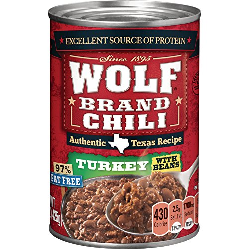 Wolf Brand Turkey Chili with Beans, 15 Ounce (Pack of 12)