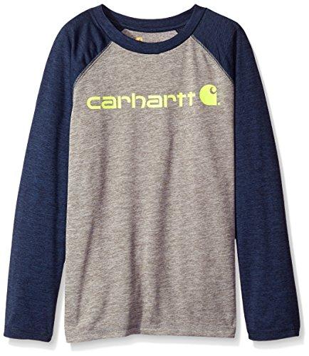 carhartt-big-boys-force-camo-pocket-tee-charcoal-grey-heather-navy-blazer-small