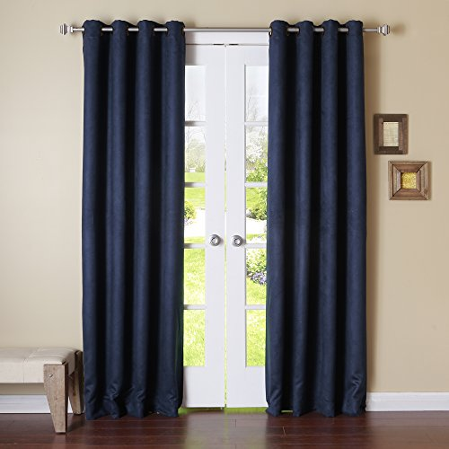 Construction Time Lined Curtains: Best Home Fashion Camel Faux Suede Grommet Top Insulated