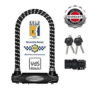 51VHiS62jTL. SS300 Master Lock 8195EURDPROREF Catena U, Ottima per Bicicletta, Elettrica, Bici da Corsa, Riflessivo, Medium
