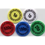 ポーカーチップ 麻雀チップP-21(シール付)100枚セット