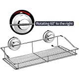 DOWRY Bathroom Shampoo Conditioner Holder Shower Basket Caddy Shelf with Suction Cups for Shampoo, Conditioner, Soap, Hold 15 LB,Rustproof Stainless Steel