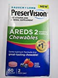 PreserVision AREDS 2 Eye Vitamin Chewables, Berry, 60 Tablets (Pack of 2)