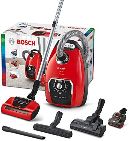 Bosch BGB8PET1 Aspirateur avec Sac Rouge ProAnimal 650 W 74 Décibels