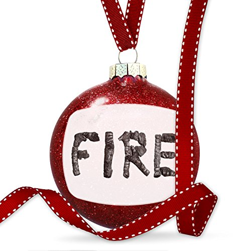 Christmas Decoration Fire Coal Grill Fire Place Ornament by NEONBLOND