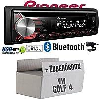 VW Golf 4 IV - Pioneer DEH-3900BT - Bluetooth | CD | MP3 | USB | Android - iPhone Autoradio - Einbauset