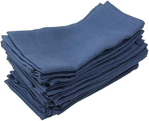 AGNN 12 trozos de Tela de algodón de Lino 40x40cm servilletas ...