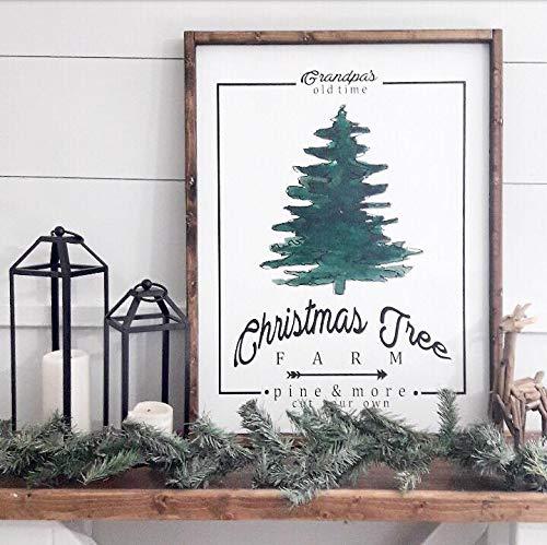 grandpas old time christmas tree farm merry christmas santa holiday decor seasonal home decor modern farmhouse