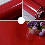 Countertop Film Yancorp Glittering Red Granite Look Marble Effect Counter Top Film Vinyl Self Adhesive Peel-Stick Wallpaper 24 X 78 inch,61cmx2m