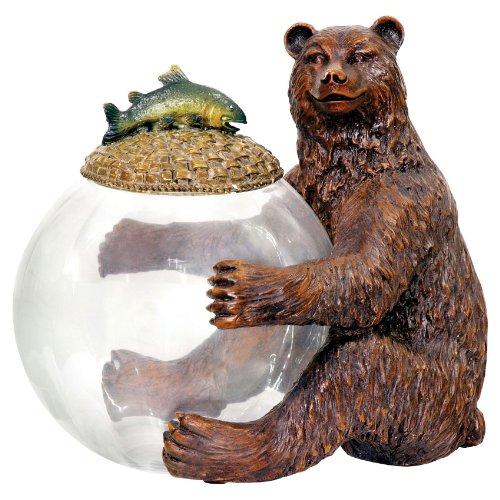 (Sterling 91-2246 Composite Wood Bear Jar Keeper, 9-1/4 by 11-Inch)