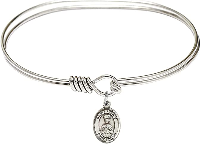 Henry II Charm. DiamondJewelryNY Eye Hook Bangle Bracelet with a St