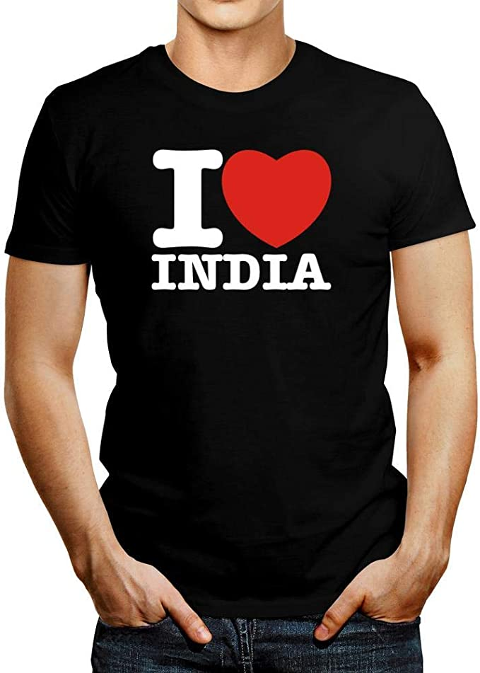 Idakoos I Love India Bold Font Camiseta: Amazon.es: Ropa y ...