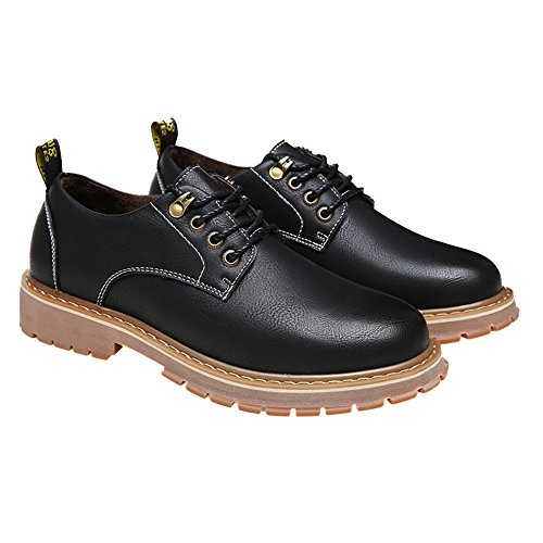 MYC Men Dress Shoe Monaco-4 Classic Oxford with Square Moc Toe and Leather Lining Black ()