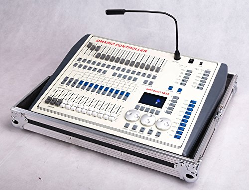 Dmx Console,Mini Pearl Console Dmx512 1024CH Can Use R.20 Library, With Flying Case, Controller Panel Use For Editing Program Of Stage Lighting -