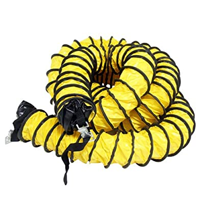 "Rubber-Cal ""Air Ventilator Yellow"" Ventilation Duct Hose (Fully Stretched), 04-Inch by 25-Feet"