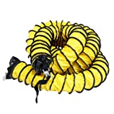Rubber-Cal ''Air Ventilator Yellow'' Ventilation Duct Hose (Fully Stretched), 14-Inch by 25-Feet
